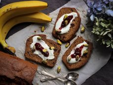 Cranberry Spiced Banana Bread by Supper in Season